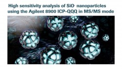 High sensitivity analysis of SiO2 nanoparticles using the Agilent 8900 ICP-QQQ in MS/MS mode
