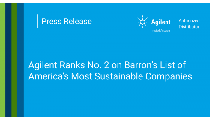 Agilent Ranks No. 2 on Barron's List of America's Most Sustainable Companies