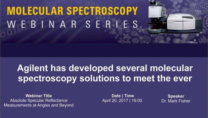 Webinar-Absolute Specular Reflectance Measurements at Angles and Beyond